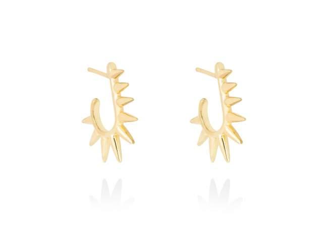 Earrings PUNK  in golden silver de Marina Garcia Joyas en plata Earrings in 18kt yellow gold plated 925 sterling silver. (size: 1,8 cm.)