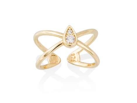 Ring REBEL  in silber vergoldet