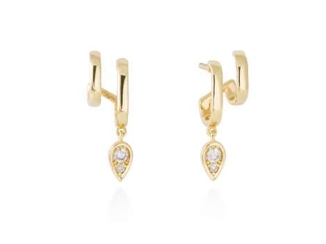 Earrings PRINCE  in golden silver