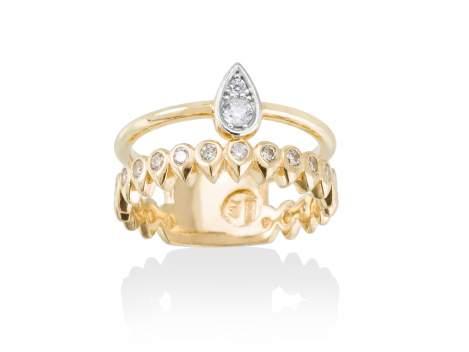 Ring PUNK  in silber vergoldet