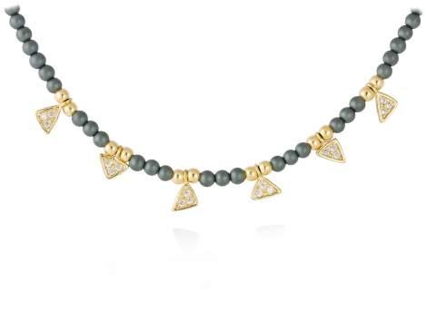 Necklace VELVET  in golden silver