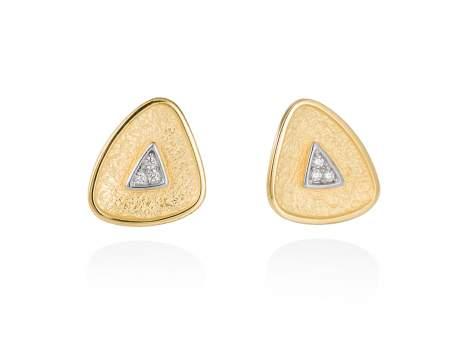 Earrings VELVET white in golden silver