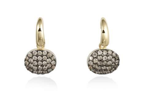 Earrings FILS Cognac in golden silver