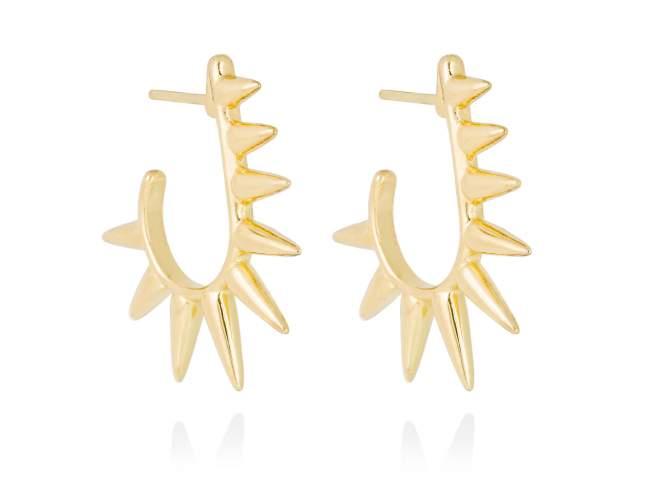 Earrings PUNK  in golden silver de Marina Garcia Joyas en plata Earrings in 18kt yellow gold plated 925 sterling silver. (size: 3 cm.)