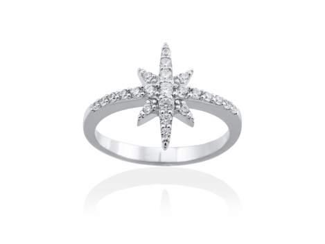Anillo ESTRELLA para novias en plata