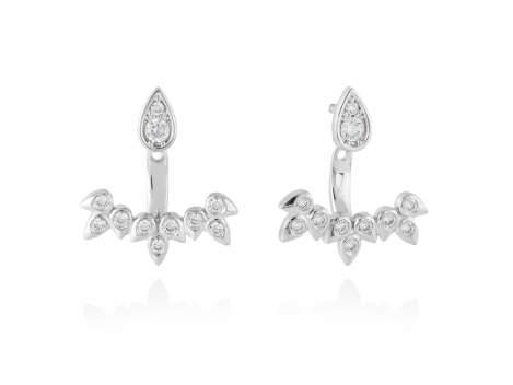 Pendientes para novia EAR JACKET en plata