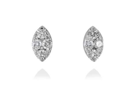 Pendientes PAVÉ forma Marquise en Oro blanco 18Kt. y diamantes