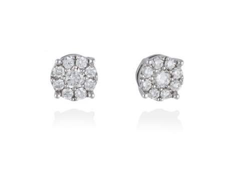 Pendientes NOVIA Oro blanco 18Kt. y diamantes