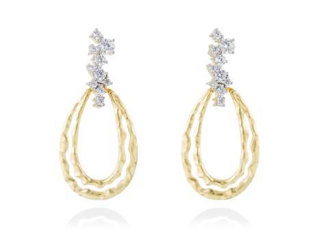 Pendientes dorados para novias en plata
