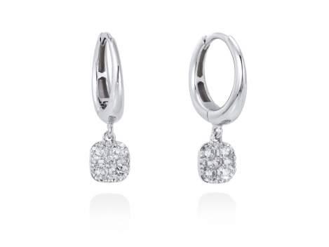 Pendientes ARO con Pavé Antic en Oro blanco 18Kt. Y diamantes