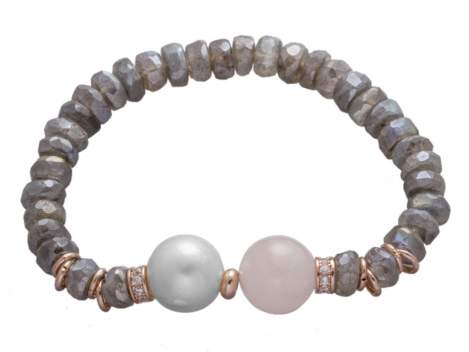 Bracelet LISBOA Pink in rose Silver
