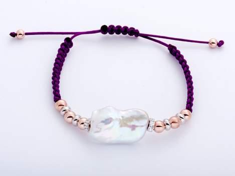 Bracelet IBIZA Purple in rose silver