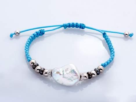 Bracelet IBIZA Blue in silver