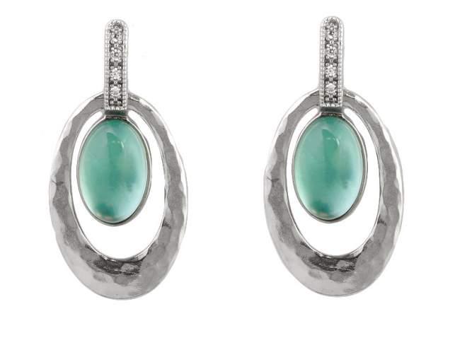 2fa9f7a62f0e Pendientes AURA Verde en plata de Marina Garcia Joyas en plata Pendientes  de plata de primera