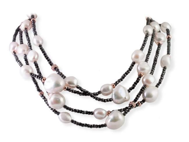 d083e149e7e3 Collar SKY Perla en plata rosa de Marina Garcia Joyas en plata Collar de  plata de