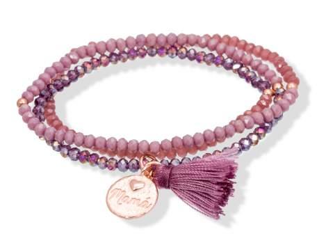 Pulsera ZEN Malva en plata rosa