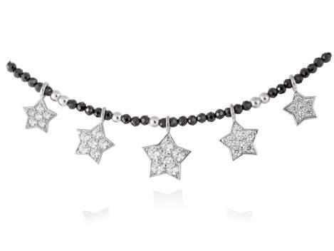 Gargantilla STAR Blanco en plata