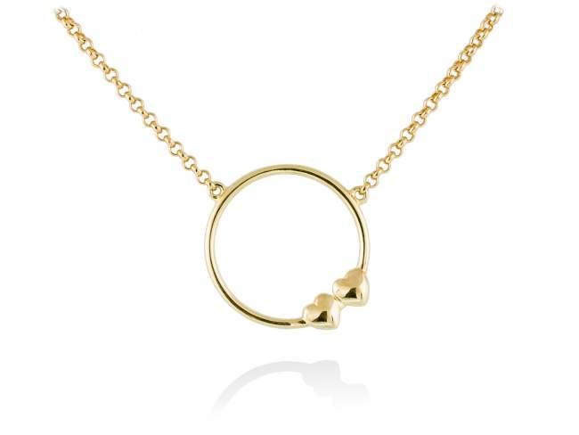 Gargantilla 2U en plata dorada de Marina Garcia Joyas en plata<p>Gargantilla de plata de primera ley (925) chapada en oro amarillo de 18kt. (largo: 40+3 cm.)</p>