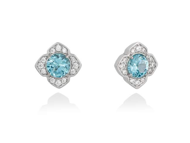 50e339c6c9a0 Pendientes MAUI Azul en plata de Marina Garcia Joyas en plata Pendientes de  plata de primera