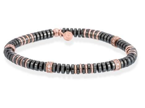 Bracelet MATT Grey in rose silver