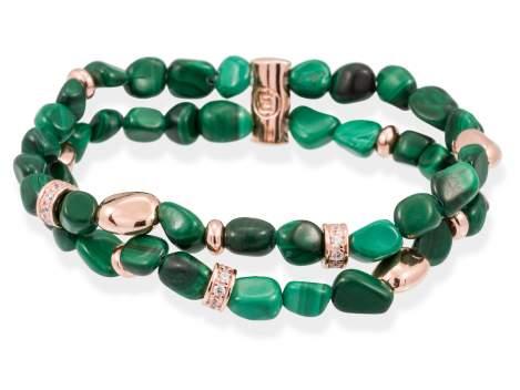 Bracelet SAMSARA Green in rose silver