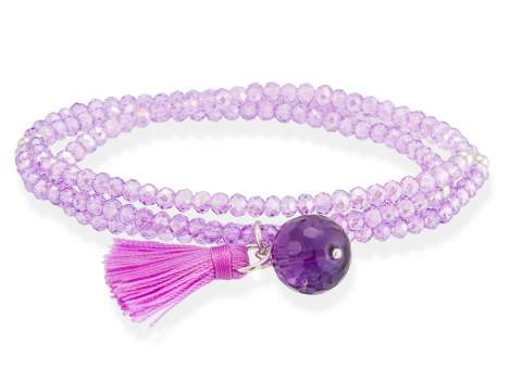 Bracelet ZEN Purple in silver