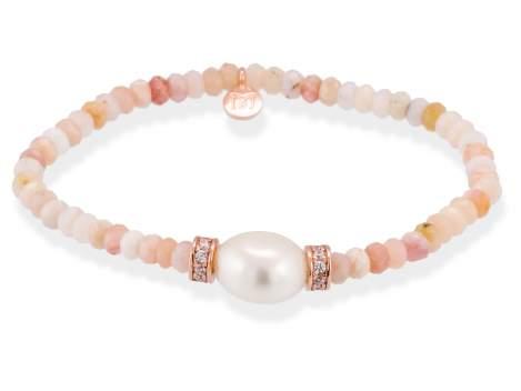 Bracelet NAYA Pearl in rose silver