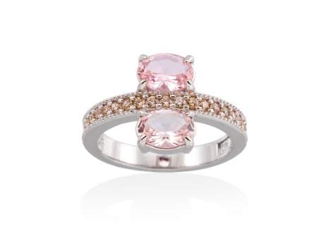 Anillo MIRROW Rosa en plata