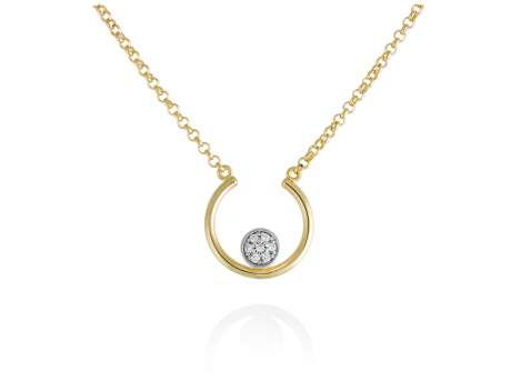 Necklace PERLE in golden silver