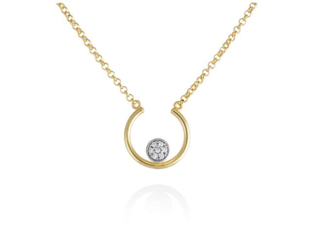 Necklace PERLE in golden silver de Marina Garcia Joyas en plata<p>Necklace in 18kt yellow gold plated 925 sterling silver and white cubic zirconia. (Length of necklace: 41+3 cm. Size of pendant: 1,5 cm.)</p>
