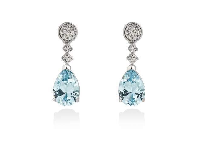 76803cfd5efc Pendientes LARA Azul en plata de Marina Garcia Joyas en plata Pendientes de  plata de primera