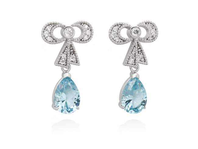 f5c833486c7a Pendientes LEA Azul en plata de Marina Garcia Joyas en plata Pendientes de  plata de primera