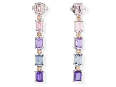 Earrings NIZA Multicolor in silver