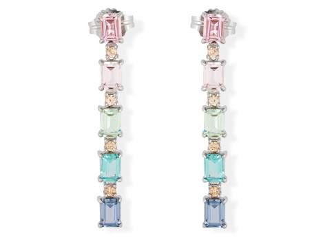 Pendientes NIZA Multicolor en plata