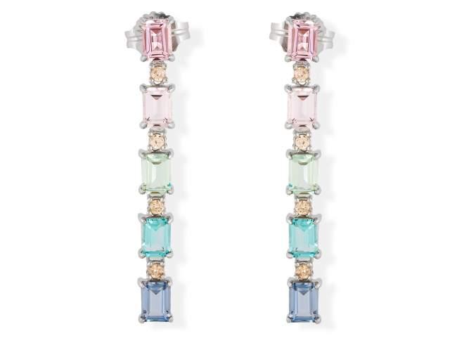 Pendientes NIZA Multicolor en plata de Marina Garcia Joyas en plata