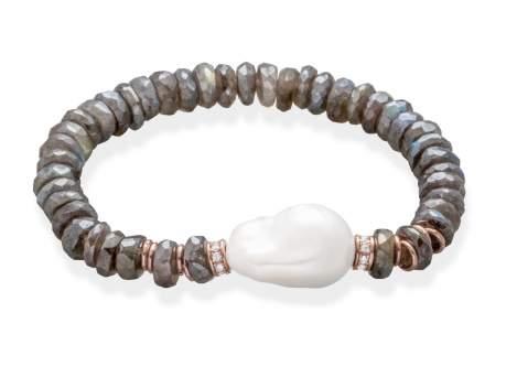 Bracelet LISBOA Pearl in rose Silver