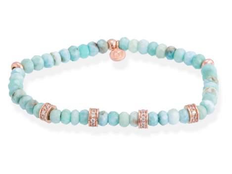 Bracelet NAYA Green in rose silver