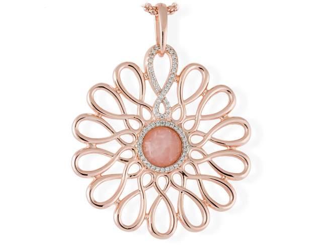 Colgante EIGHT en plata rosa de Marina Garcia Joyas en plata<p>Colgante de plata de primera ley (925) chapada en oro rosa de 18kt y circonita blanca. (tamaño: 7,3 cm.) (Cadena no incluida)</p>