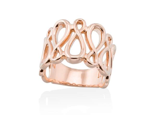 Ring EIGHT  in rose silver de Marina Garcia Joyas en plata Ring in 18kt rose gold plated 925 sterling silver.