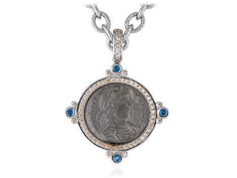Colgante VECCHIO Azul en plata
