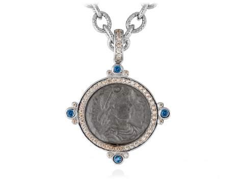 Pendant VECCHIO Blue in silver