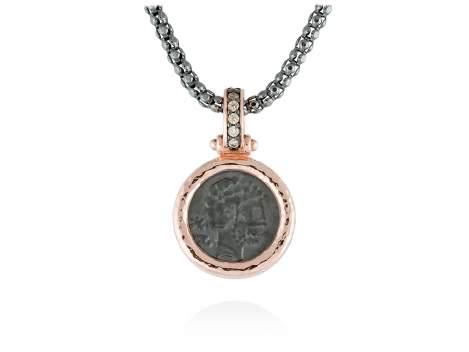 Pendant VESTA in rose silver