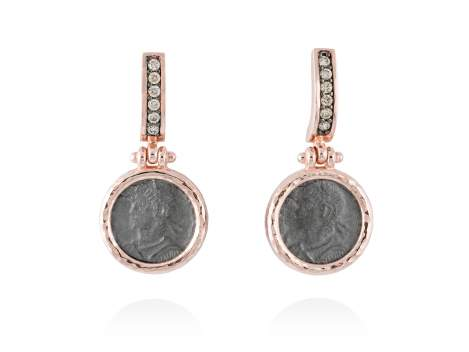 Earrings VESTA in rose silver