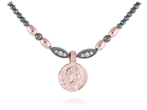 Necklace VENUS in rose silver