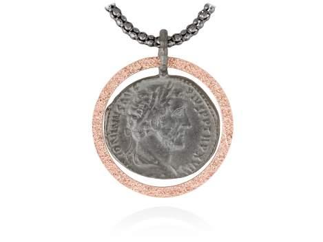 Colgante MITO en plata rosa