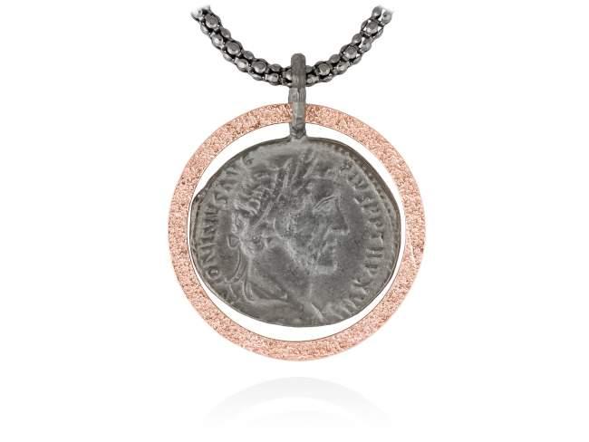 Colgante MITO en plata rosa de Marina Garcia Joyas en plata Colgante de plata de primera ley (925) con baño de rutenioy chapado en oro rosa de 18kt. (tamaño: 3 cm.) (Cadena no incluida)