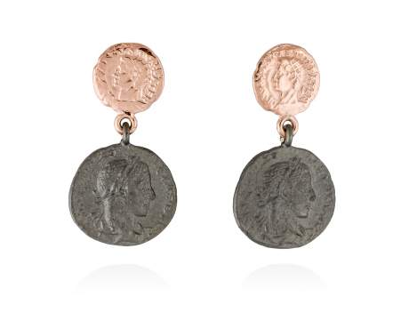 Earrings MITO  in rose silver