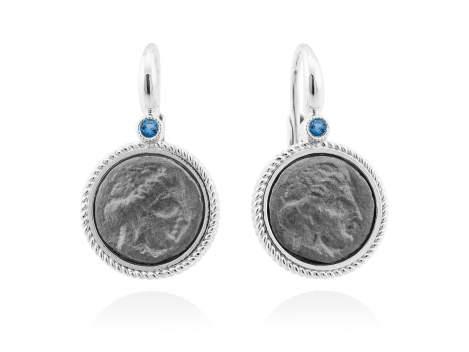 Pendientes TERRA Azul en plata