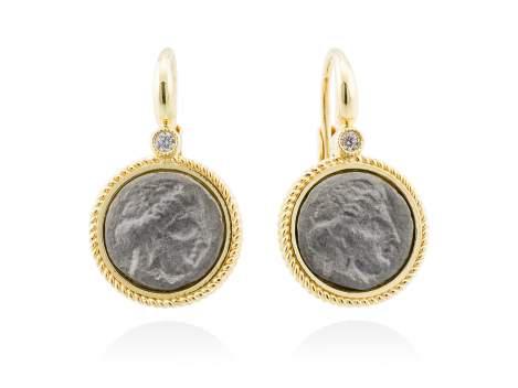 Earrings TERRA in golden silver