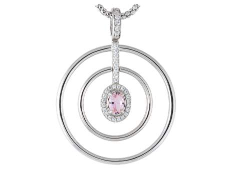 Anhänger AIRE Rosa in silber